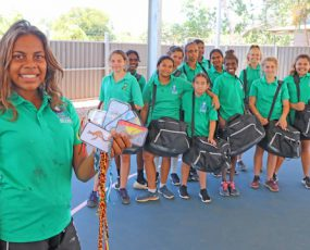 Kids show homeless they care (Broome Advertiser)